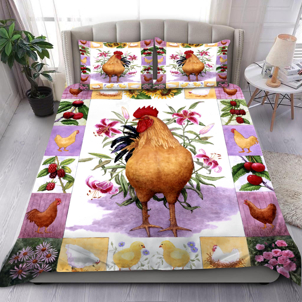 Floral Chicken Bedding Set HAC110708-NM-Bedding Set-NM-Twin-Vibe Cosy™