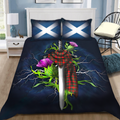 Scotland Sword Tartan Bedding Set MH2007201-Bedding Set-TT-Twin-Vibe Cosy™