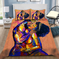 African Couple Love Bedding Set-ML-ML-US Twin-Vibe Cosy™