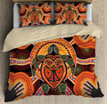 Aboriginal Turtle Touch the Sun Bedding Set, Australia Indigenous Painting Art Bedding Set-Bedding Set-Huyencass-Twin-Vibe Cosy™
