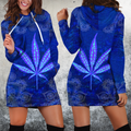 Hippie Royal Blue 3D All Over Printed Hoodie Shirt by SUN HAC280303-Apparel-SUN-Hoodie Dress-S-Vibe Cosy™