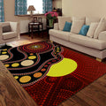 Aboriginal Flag Circle Dot Australia Indigenous Painting Art Rug