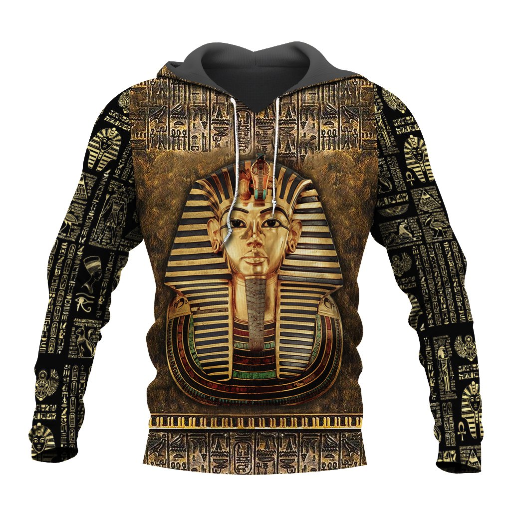 Ancient Egypt Tutankhamun 3D All Over Printed Shirt Hoodie For Men And Women MP1002-Apparel-MP-Hoodie-S-Vibe Cosy™