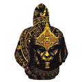 3D All Over Aztec Warrior Mexican Hoodie Yellow-Apparel-HP Arts-Hoodie-S-Vibe Cosy™
