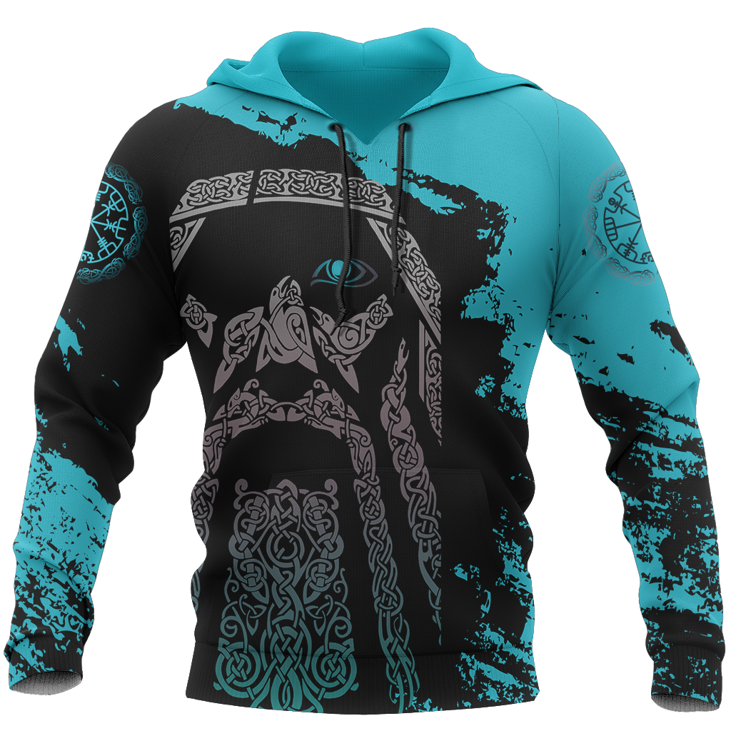 Viking Odin - Wotan Special Blue Pullover - Amaze Style™-ALL OVER PRINT HOODIES