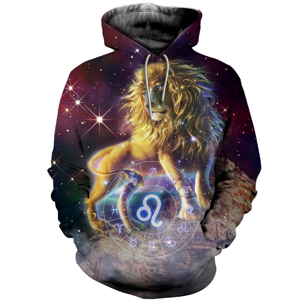 3D ALL OVER PRINTED LEO ZODIAC T SHIRT NTH160867-Apparel-NTH-Hoodie-S-Vibe Cosy™