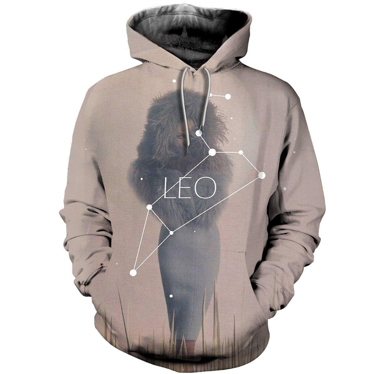 3D ALL OVER PRINTED LEO ZODIAC T SHIRT NTH160866-Apparel-NTH-Hoodie-S-Vibe Cosy™