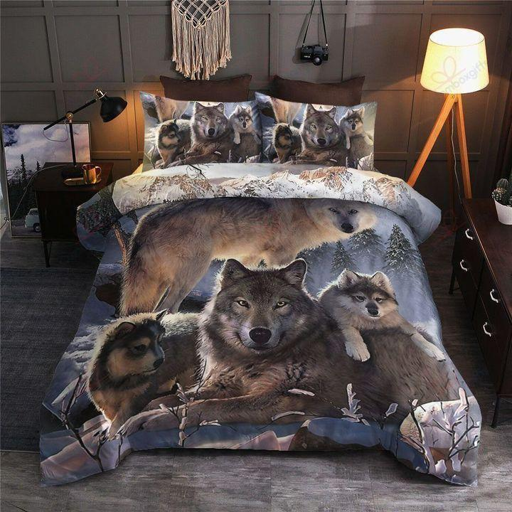 Wolf bedding set HG63003-Bedding Set-HG-Twin-Vibe Cosy™