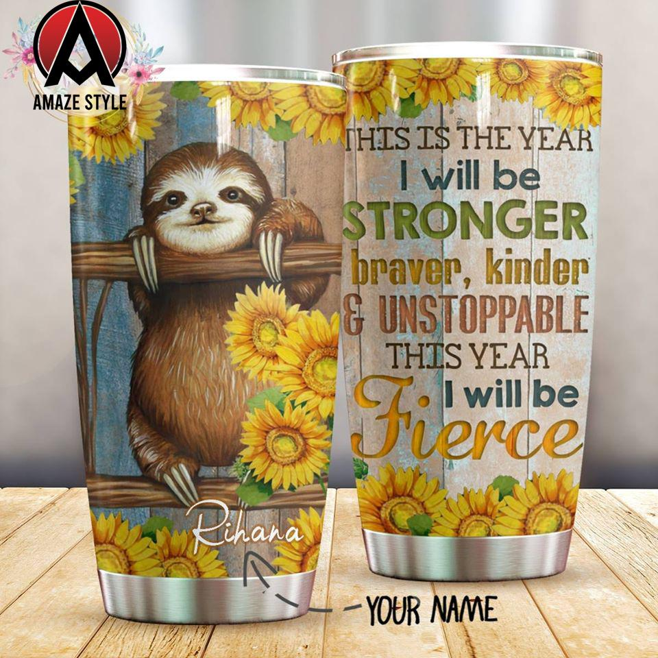 Sloth stainless steel tumbler HG32408-HG-Vibe Cosy™