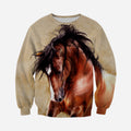 3D All Over Printed Horse painting Clothes-Apparel-HP Arts-Sweatshirt-S-Vibe Cosy™