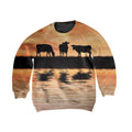 Sunset and Cow Kids All Over-Apparel-HD09-Sweatshirt-TODDLER 2T-Vibe Cosy™