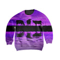 Sunset and Cow Violet Kids All Over-Apparel-HD09-Sweatshirt-TODDLER 2T-Vibe Cosy™
