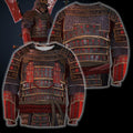 3D All Over Printed Samurai Armor Tops For Men-Apparel-HP Arts-Sweatshirt-S-Vibe Cosy™