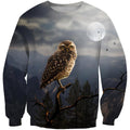 3D All Over Print Owl Drinking Coffee Shirts-Apparel-Phaethon-Sweatshirt-S-Vibe Cosy™