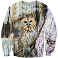 3D All Over Print Owl Shirts-Apparel-Phaethon-Sweatshirt-S-Vibe Cosy™