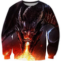 3D All Over Print Dragon With Fire Shirts-Apparel-Phaethon-Sweatshirt-S-Vibe Cosy™