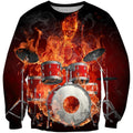 3D All Over Print Drum Shirts HG-Apparel-HG-Sweatshirt-S-Vibe Cosy™
