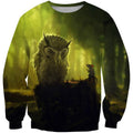 3D All Over Print Owl And Mouse Shirts-Apparel-Phaethon-Sweatshirt-S-Vibe Cosy™