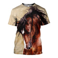 3D All Over Printed Horse painting Clothes-Apparel-HP Arts-T-Shirt-S-Vibe Cosy™