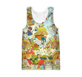 3D All Over Print Anime Japan Hoodie-Apparel-Khanh Arts-Tank-S-Vibe Cosy™