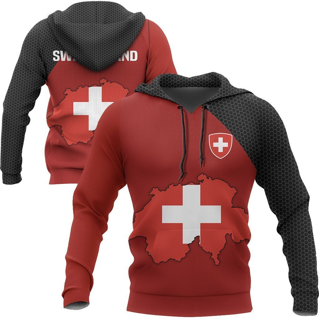 Switzerland Map Special Hoodie-Apparel-Phaethon-Hoodie-S-Vibe Cosy™