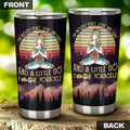 Yoga I'm Mostly Peace Love and Light Funny Tumbler-RoosterArt-Vibe Cosy™