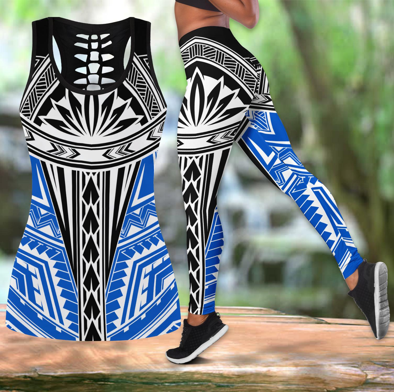 Polynesian Tattoo Legging & Tank top-ML-Apparel-ML-S-S-Vibe Cosy™