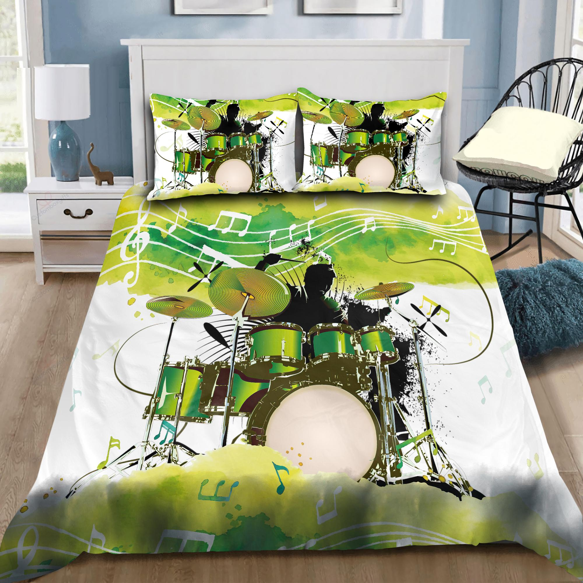 Drum in Heart Bedding Set-ML-ML-US Twin-Vibe Cosy™