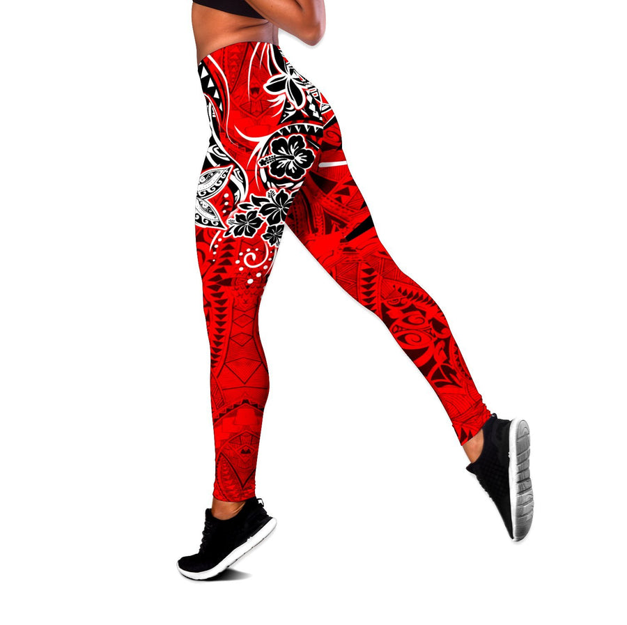 Amazing Polynesian Tribal Pattern Legging & Tank top-ML