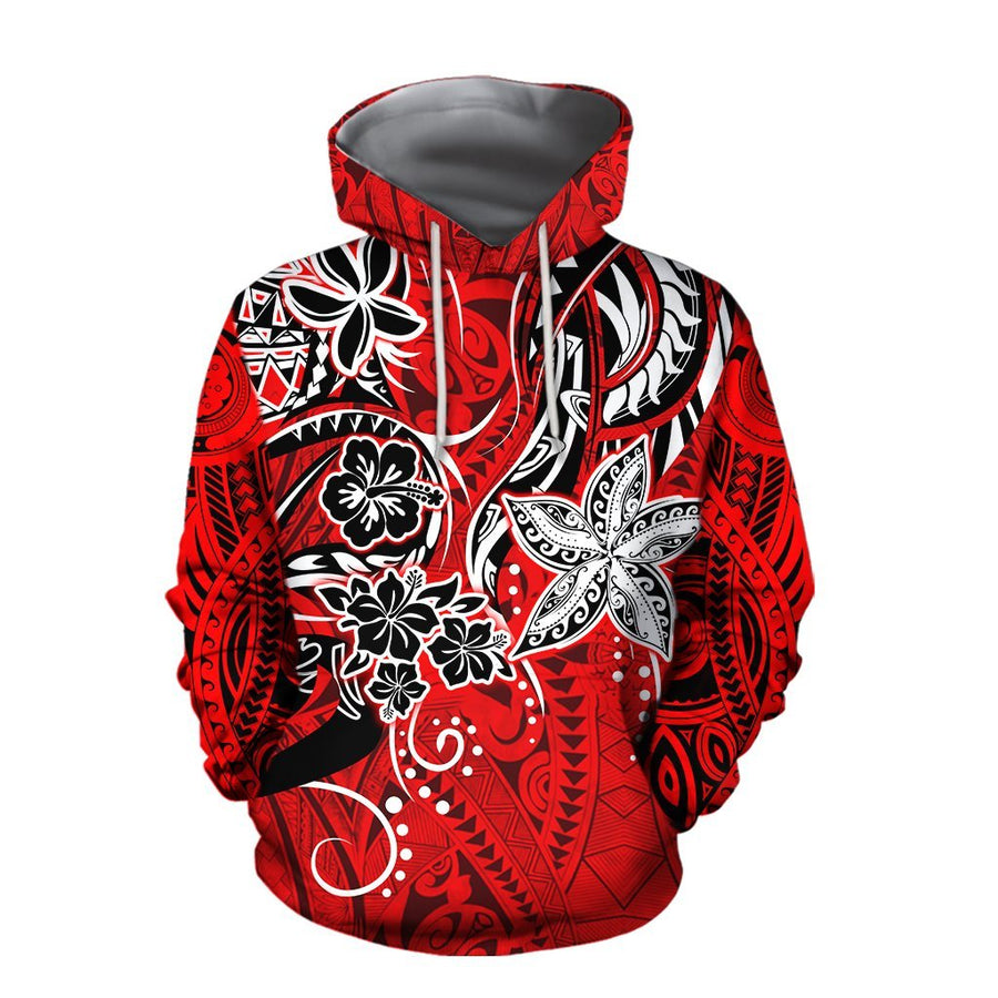 Amazing Polynesian Tribal Pattern Hoodie and Legging ML