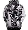 3D All Over Print Zebra Face Shirt-Apparel-6teenth World-Hoodie-S-Vibe Cosy™