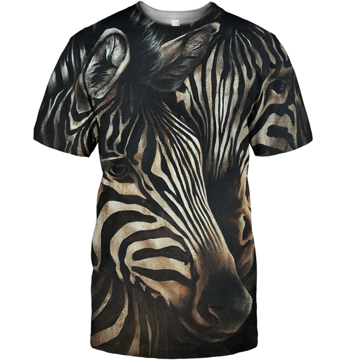 3D All Over Print Zebra Face Lovely Shirt-Apparel-6teenth World-T-Shirt-S-Vibe Cosy™
