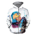 3D All Over Printed Otter T-shirt Hoodie-Apparel-HP Arts-ZIPPED HOODIE-S-Vibe Cosy™