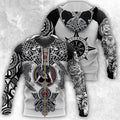 All Over Printed Viking Tattoo Shirts-Apparel-HP Arts-Zipped Hoodie-S-Vibe Cosy™