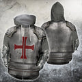 3D All Over Printed Knights Templar Tops-Apparel-HP Arts-ZIPPED HOODIE-S-Vibe Cosy™