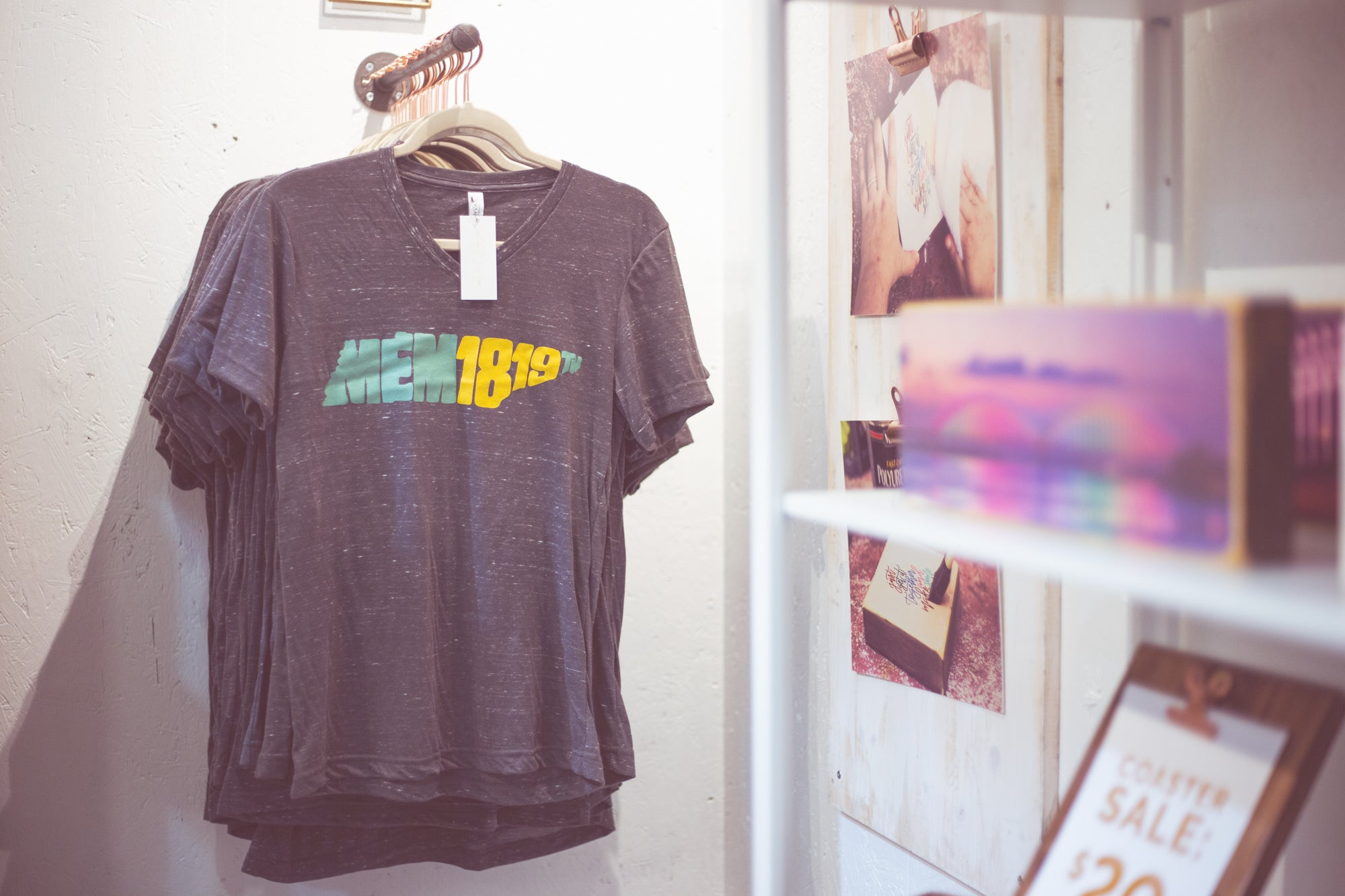 MEM1819 gray v-neck t-shirt by ARCHd at Painted Tree Marketplace Memphis, TN
