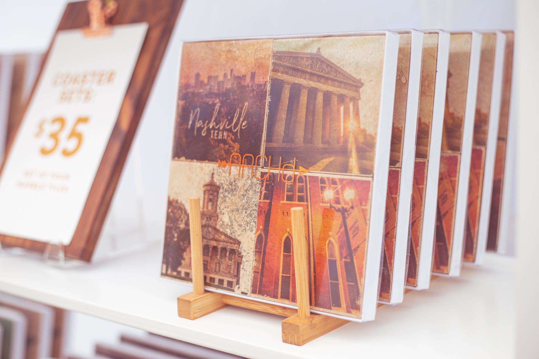Nashville TN photography marble coasters by ARCHd at Tomato Arts Festival 2019
