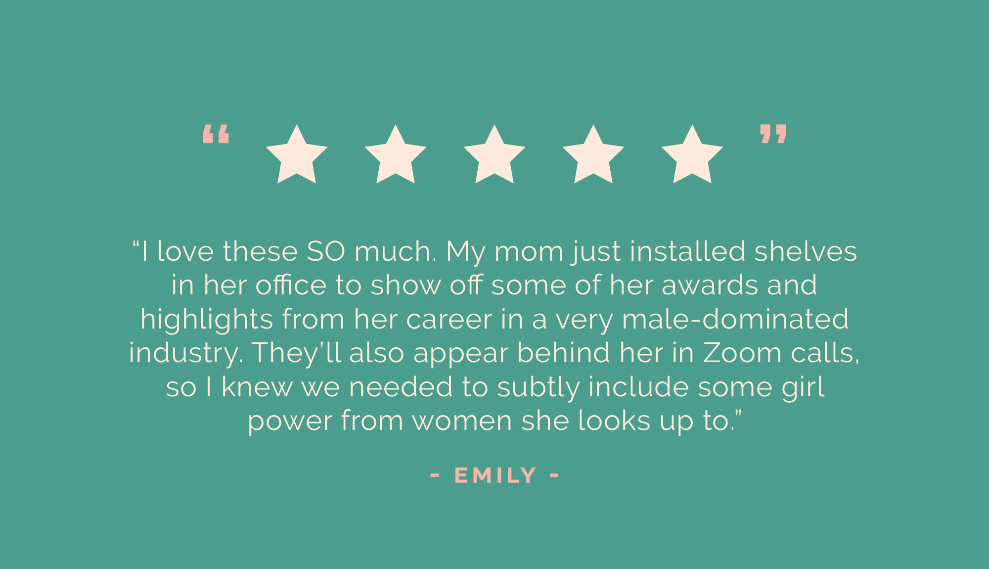 5 star review for ARCHd build your own feminist bookend sets