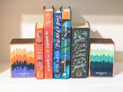 RETRO SKYLINE BOOKENDS