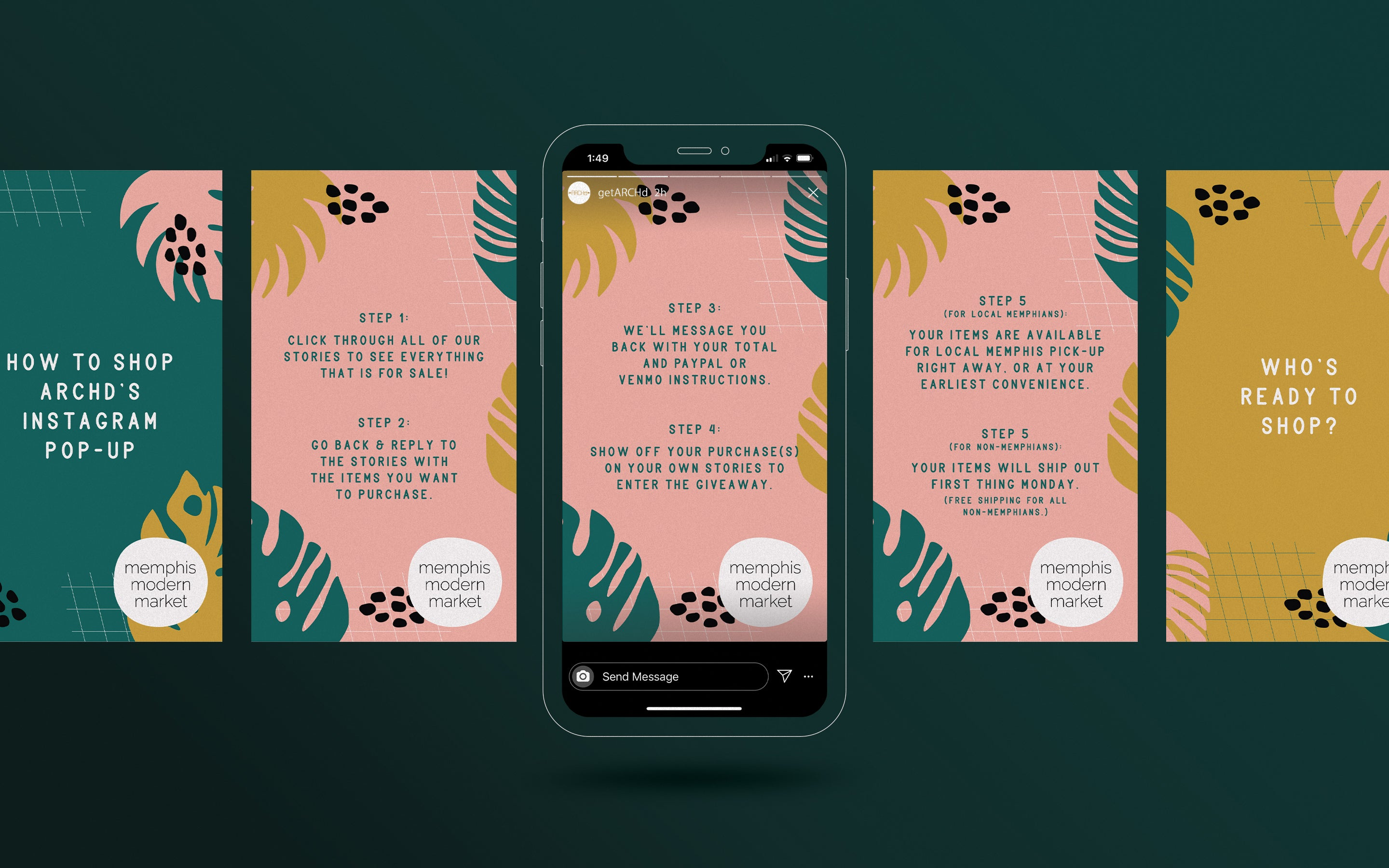 Instagram Story pop-up shop template designs