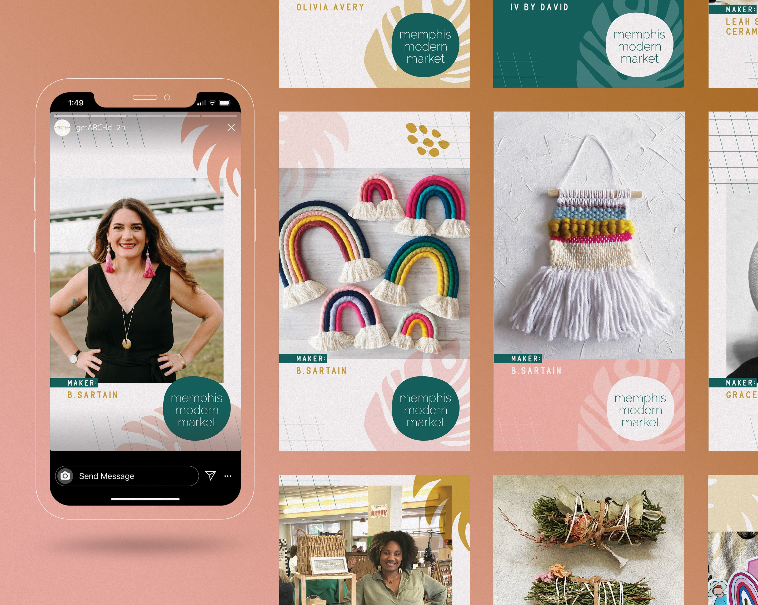 Handmade seller profile feature Instagram Story Template design