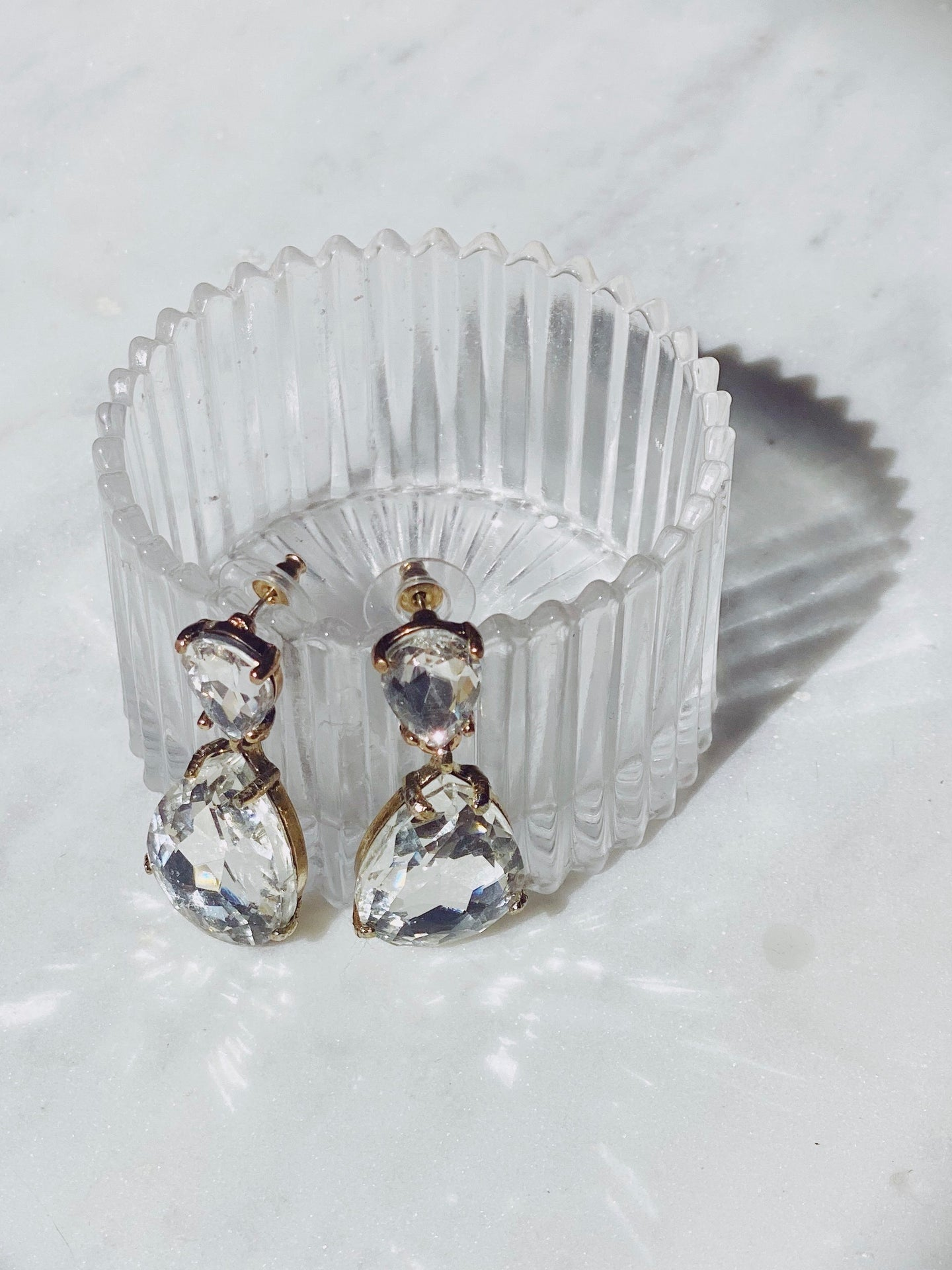 Crystal Teardrop Statement Earrings