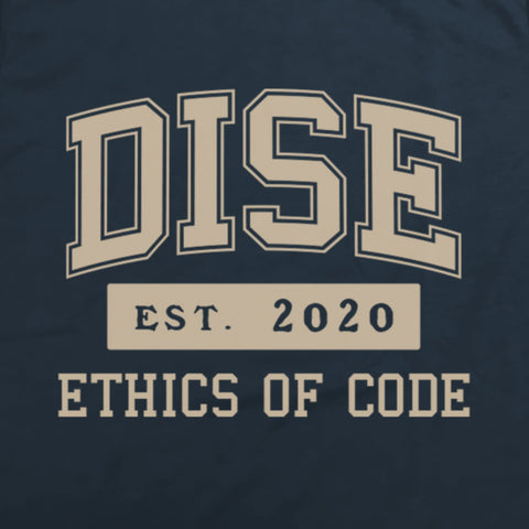 DISE blue college tee