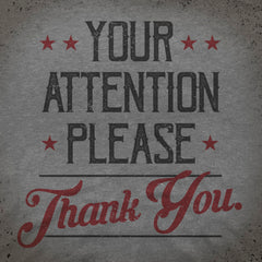 Attention Please tee - The Flying Pork Apparel Co.