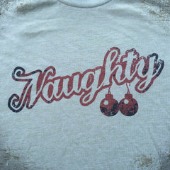 Naughty Xmas tee. - The Flying Pork Apparel Co.