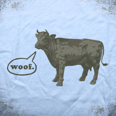 Woof Cow tee - The Flying Pork Apparel Co.