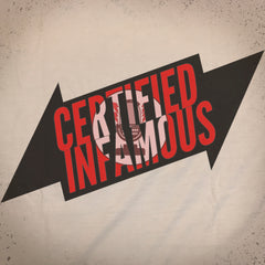 Infamous Bolt tee - The Flying Pork Apparel Co.