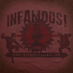 Infamous Heroes tee - The Flying Pork Apparel Co.