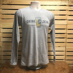 Drink Local longsleever - The Flying Pork Apparel Co.