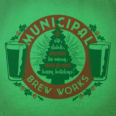 MBW Xmas Pint tee - The Flying Pork Apparel Co.